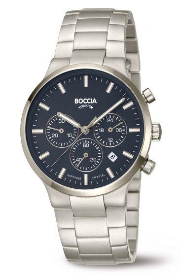 Boccia 3746-02 Herrenuhr Chronograph Titan