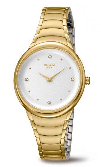 Boccia 3276-14 Damenuhr Titan goldplattiert