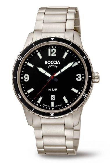 Boccia 3635-03 Herrenuhr mit Saphirglas, 100m wasserdicht